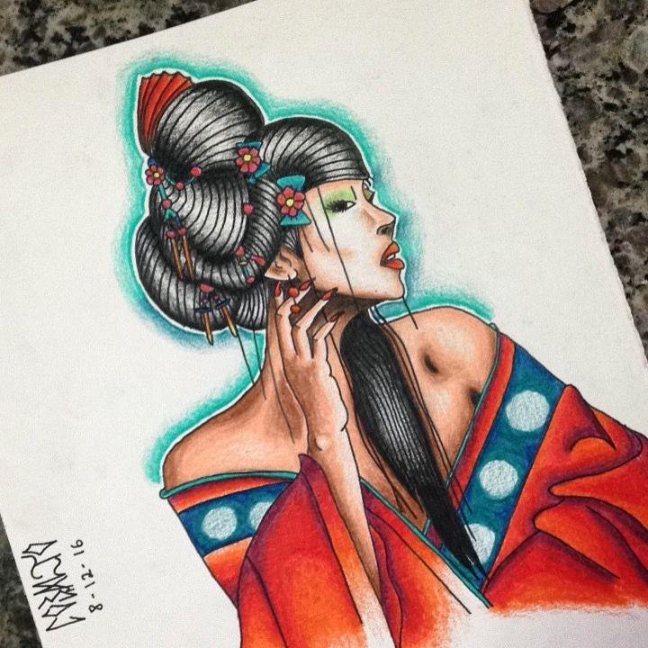 #gueixa #gueixatattoo #tattoo #draw #desenho #jonascobalto #cobalto