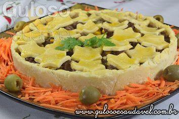 Esta Torta de Carne Sem Glúten é amor à primeira vista e mordida. É a nossa deliciosa sugestão para o #almoço!  #Receita aqui: http://www.gulosoesaudavel.com.br/2014/03/11/torta-carne-sem-gluten/