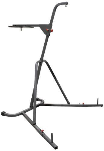 XMark Fitness Deluxe Heavy Bag Stand with Adjustable Speed Bag Platform by XMark Fitness. $326.00. The XMark Deluxe Heavy Bag Stand with Adjustable Speed Bag Platform XM-2840 provides a sturdy foundation for your heavy bag and speed bag training sessions. Your need for a structure that holds your bags in place and allows for maximum utilization is met by this platform.    The XM-2840 comes with a stand for your heavy bag that lends support as you throw jabs and upper cuts. It is...