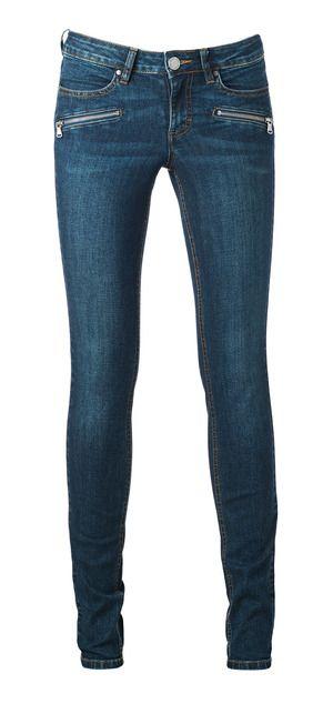 Skinny low jeans