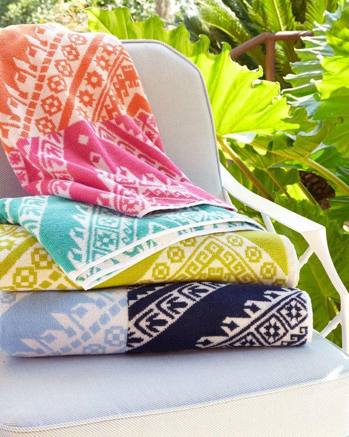 "John Robshaw Koh Beach Towel, 40"" x 70"""