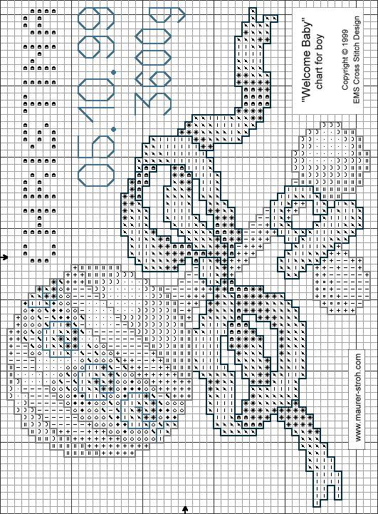 Free Cross Stitch Pattern Welcome Baby - Symbolchart