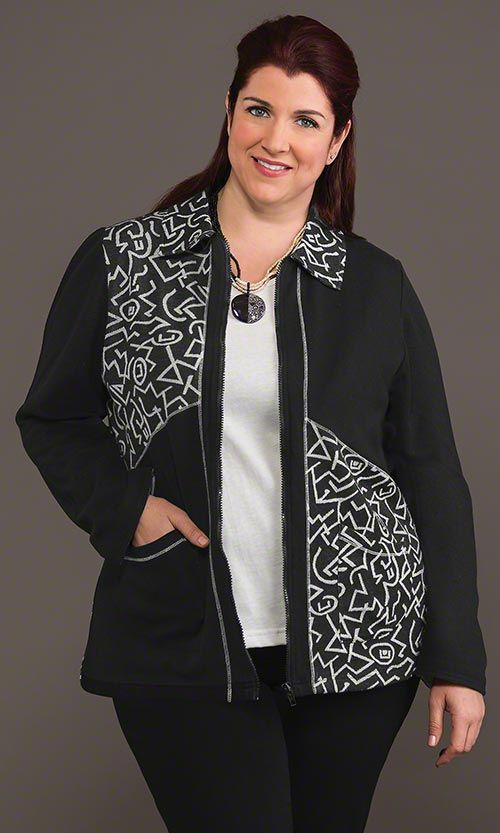 Hudson Zip Front Jacket / MiB Plus Size Fashion for Women / Fall Fashion http://www.makingitbig.com/product/4953