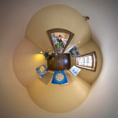 Check out this'giddy little planet' photo of Doug Riley exhibition at 28 Harrington Street - Reynolds Cottage