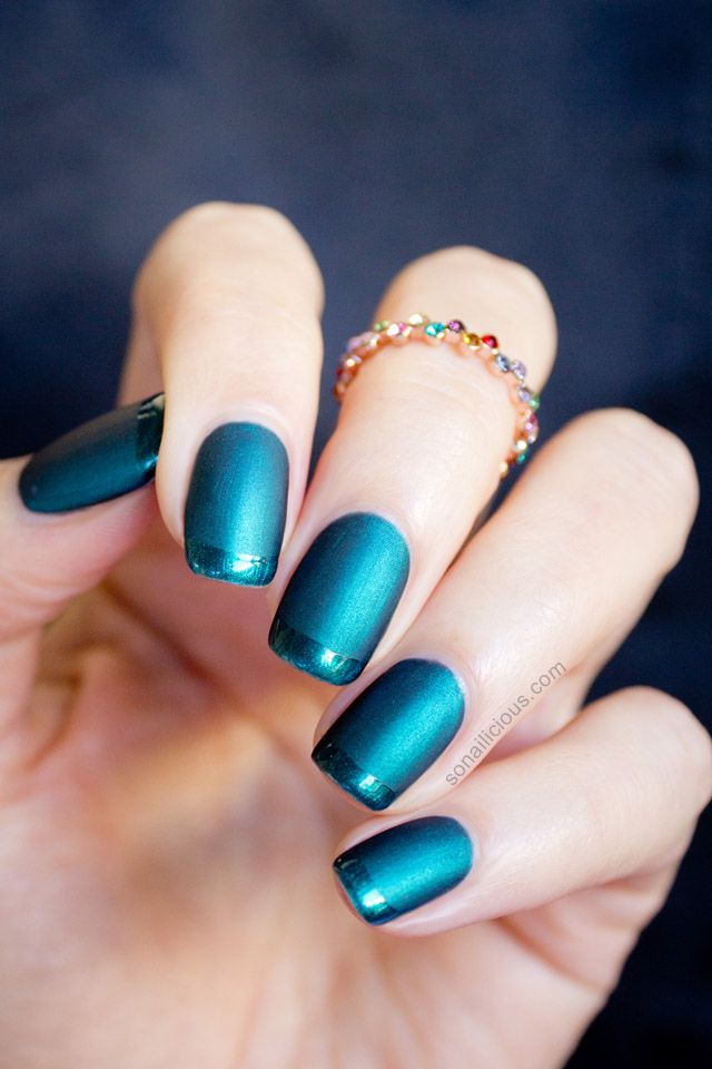 Matte French Nails. Click for how-to. #matte #nails - Best 25+ Emerald Nails Ideas On Pinterest Metallic Nail Polish