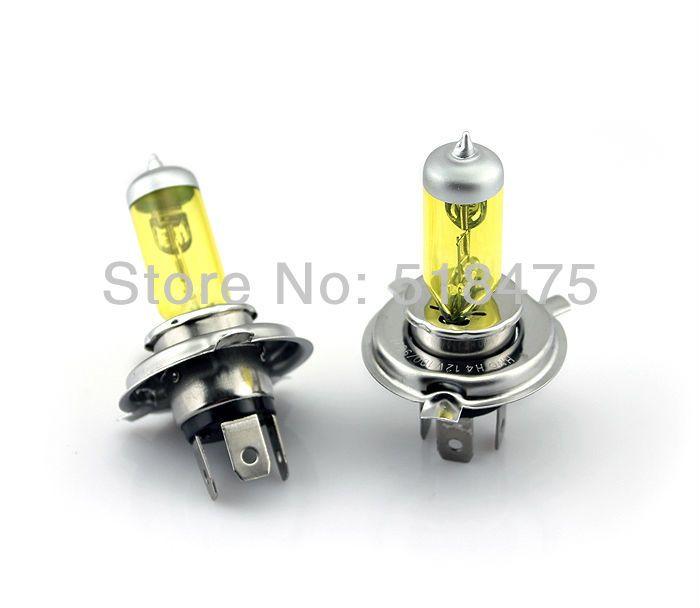 Новые Высокие яркие 9003/H4 12 В 130 Вт Галогенные Фары Ксеноновые лампы 2 ШТ. желтый трубки для всех автомобиль бесплатная доставка
