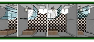 40FT Container Shower Room for Camping Site.