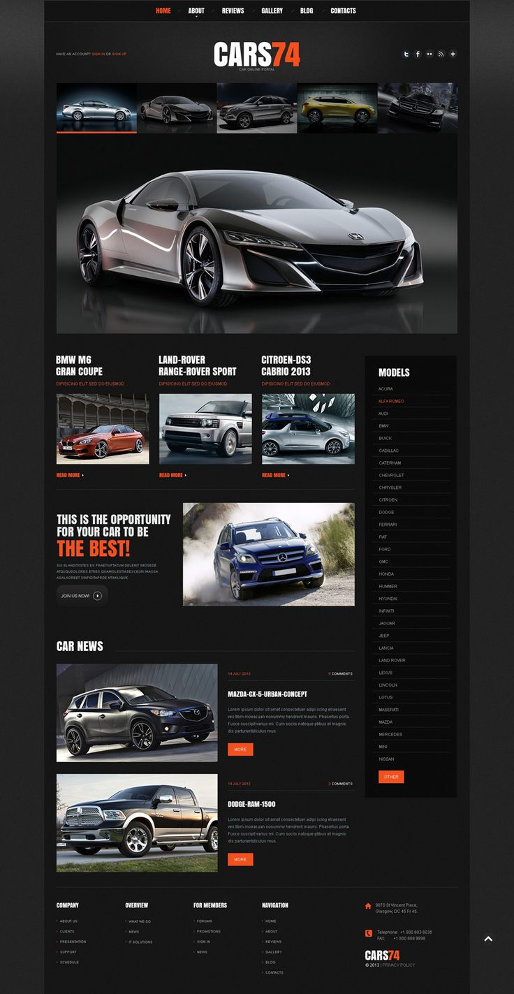 Joomla template 45488 in car category