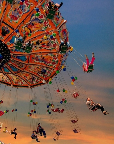 ✯ Dusk at the FairTravel Photos, Summer Fair, Oktoberfest Munich, Swings, Carnivals, Germany Travel, Munich Germany, Happy Moments, Fair Riding