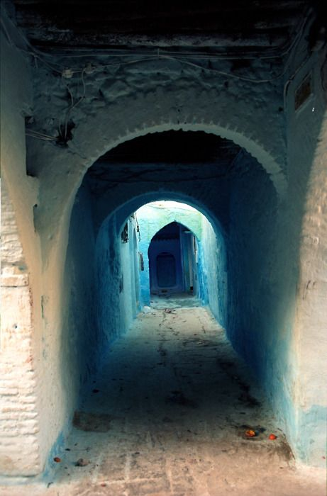 Some where in Morocco: Doors, Covers Walkways, Blue, Portal, Chefchaouen, Arches, House, Architecture, Morocco