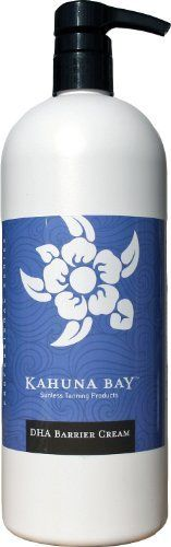 Amber Sun DHA Barrier Cream 33.8 oz. (1 liter) by Amber Sun. $10.90. Prevents DHA bronzing sprays from over-darkening cuticles and dry or callused skin areas.. Amber Sun DHA Barrier Cream is the answer to over-browning cuticles, knees, elbows, hands, feet and dry areas. Unlike petroleum based products, Pro-Blend Barrier Cream is a high-quality high intense moisturizer that allows for a perfect color blend.