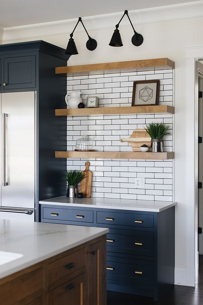 Farmhouse Kitchen Floating Shelves