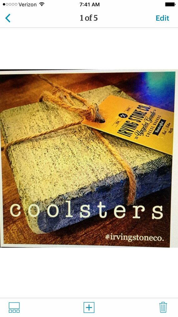 Our Coolster are here! We have discovered that the unpolished side of our granite pieces work well as coasters for cold drinks that produce condensation. The porous stone acts as a sponge while keeping your favorite wine or beer cool without having to add ice! No more diluted drinks!  - Absorbs condensation - Use as a beverage rest, soap dish, candles base - Safe (and recommended for!) chilling in freezer - Coolster stones average 4.5x4.5X 1 - comes with 2 limited edition beer can glasses…