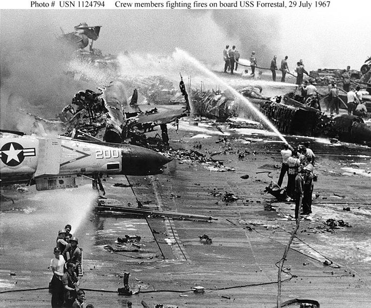 On the morning of July 29, tragedy struck aboard the aircraft carrier USS Forrestal.