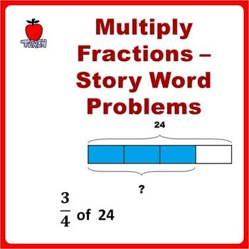 Fractions Worksheets 4th Grade, 5th Grade. Solve word problems using multiplication of fractions math concept. Children are guided to solve word problem with visual fractions and equation representation. Based on Singapore Math Bar/Block Model approach to problem solving.