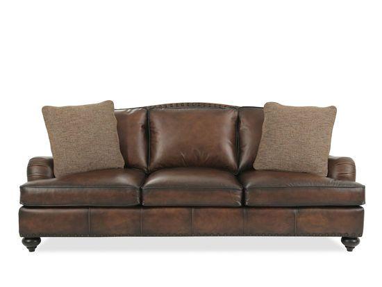 Bernhardt Fulham Leather Sofa