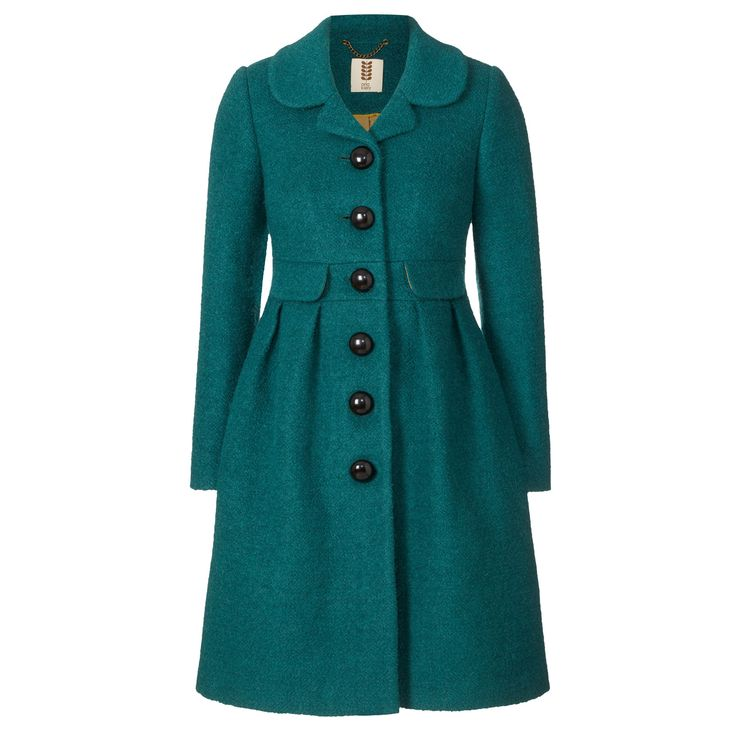Orla Kiely: Fitted coat in boucle textured fabric. Absolutely gorgeous coat!!! Length: 37in