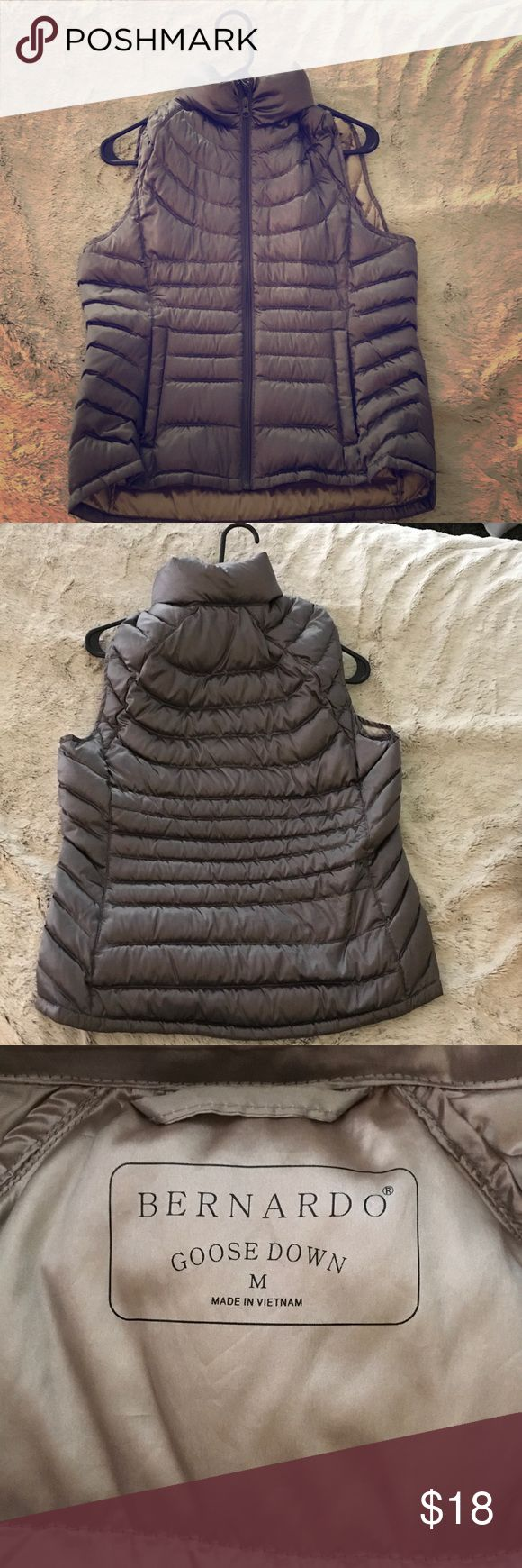 Goose down satin silver vest Lightweight and easy to pack. Worn once on excellent condition Jackets & Coats Vests