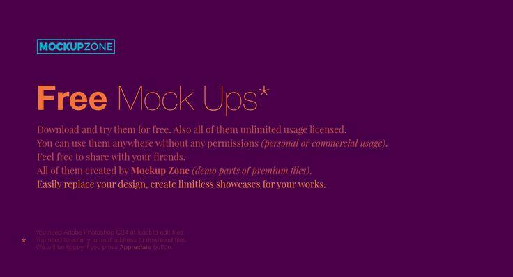 47 Free Mock Ups From Mockup Zone on Behance