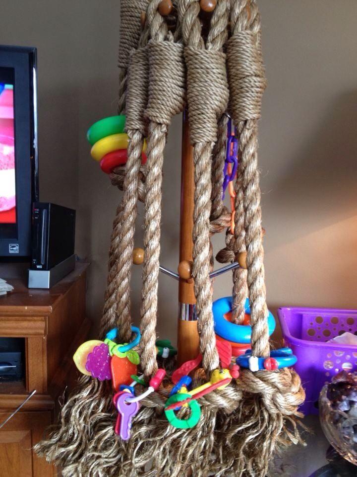 Bird rope toy
