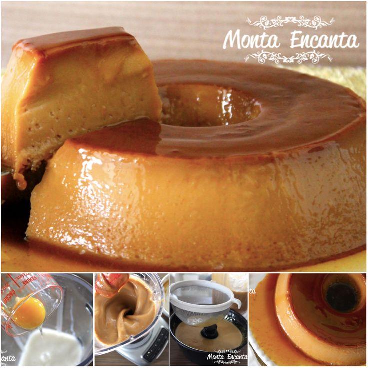 PUDIM DE CARAMELO, surpreende! tem gosto de bala toffe, só que não, geladinho, super cremoso, uma delicia ;) Receita de hoje: http://www.montaencanta.com.br/sobremesa-2/pudim-de-caramelo/