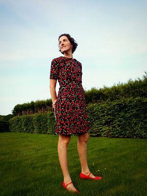 Kleedje met kersen, Louise jurk van Madame Creatief