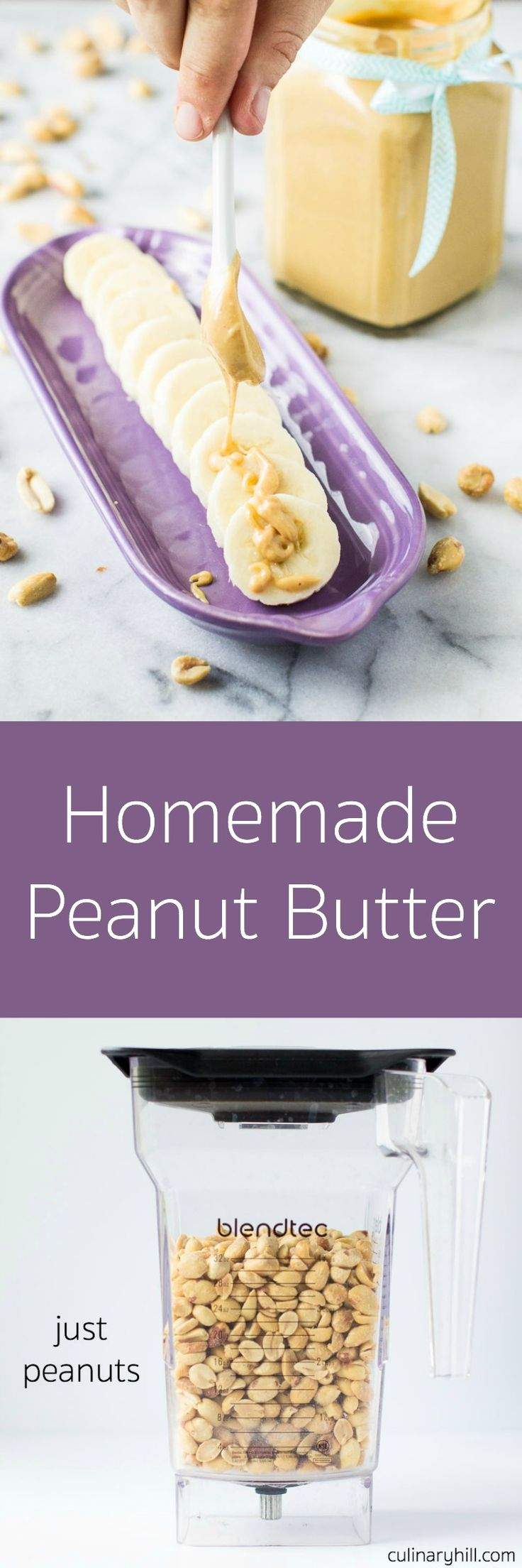 Just Peanuts. This smooth and creamy Homemade Peanut Butter has no added sugar, salt, or oil. It's just peanuts, and it's world apart from store-bought.