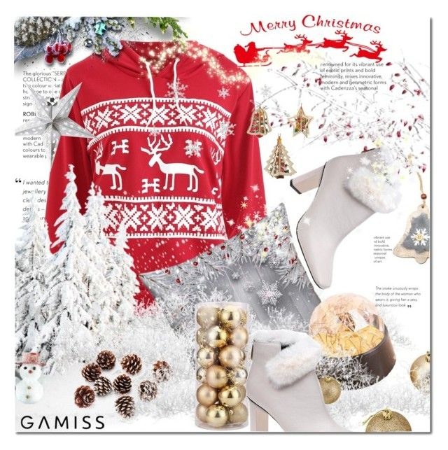 """""""Merry Christmas from Gamiss-Win $20!"""" by kroton ❤ liked on Polyvore featuring interior, interiors, interior design, home, home decor, interior decorating, Christmas, contest and gamiss"""