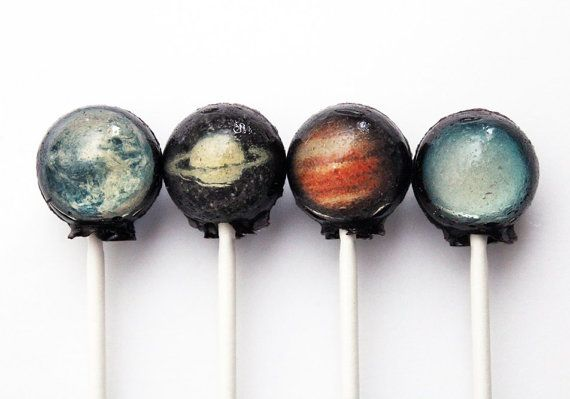 Love these!!!!    Planets solar system space ball style edible by VintageConfections, $17.50