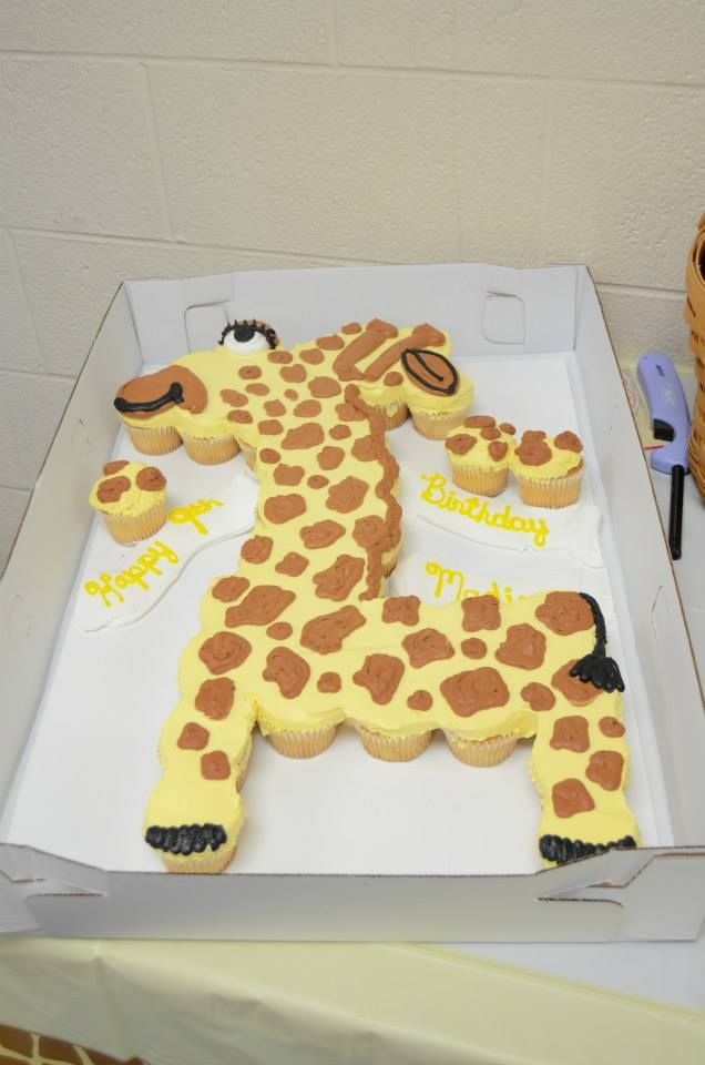 Giraffe Cupcake Cake Kid S Parties Pinterest