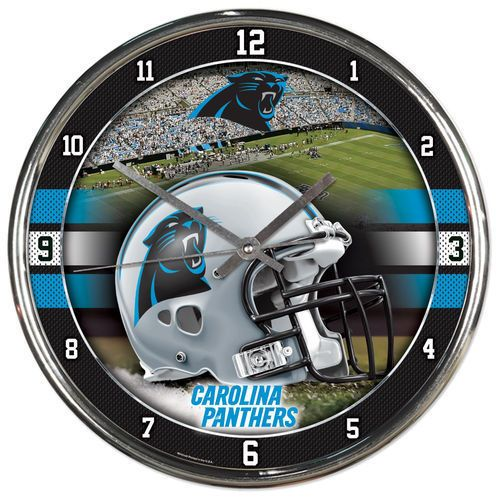 WinCraft Carolina Panthers Chrome Clock - NFL #WinCraft #CarolinaPanthers