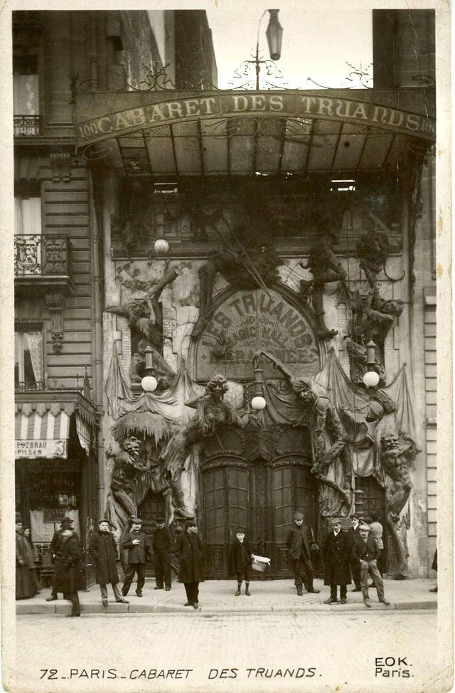 «LA TAVERNE DES TRUANDS», 100, BOULEVARD DE CLICHY.(1910). Paris.