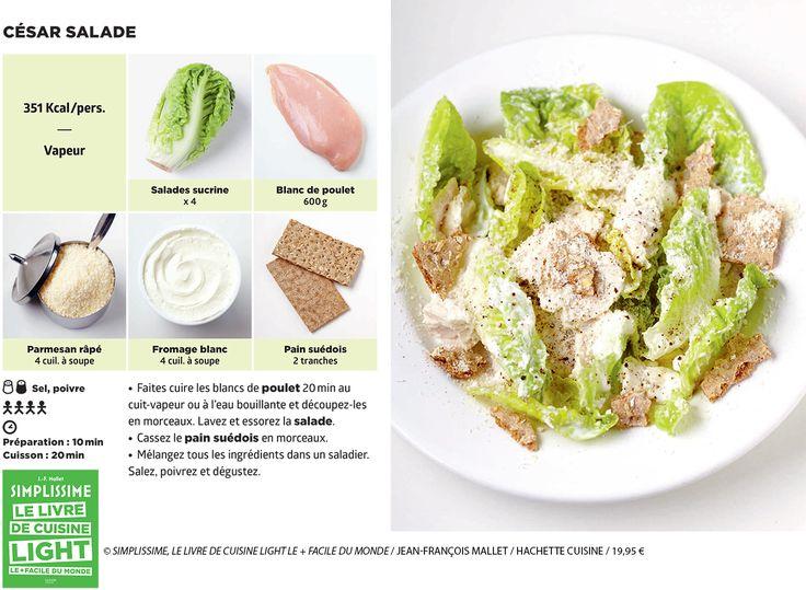 c sar salade la recette simplissime cuisine notre temps cuisine sal e pinterest. Black Bedroom Furniture Sets. Home Design Ideas