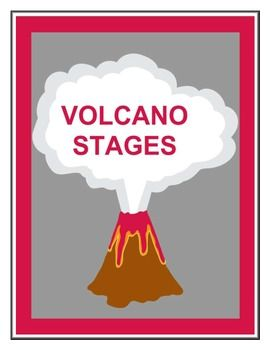Volcano Stages Worksheet FREEBIE