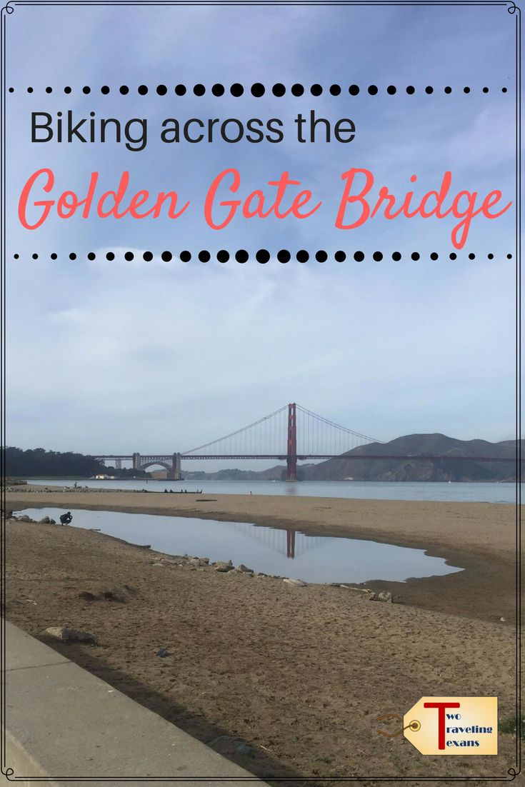 Tips for biking across the Golden Gate Bridge to Sausilito and then taking the ferry back to Fisherman's Wharf. via @2travelingtxns #sanfrancisco #california #bikingthegoldengatebridge #goldengatebridge #bikerideacrossthegoldengatebridge