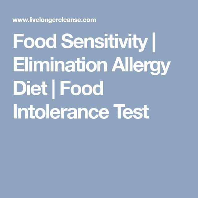 Food Sensitivity   Elimination Allergy Diet   Food Intolerance Test