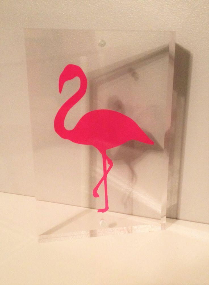 Blocco acrilico fenicottero rosa art di FredAndBo su Etsy