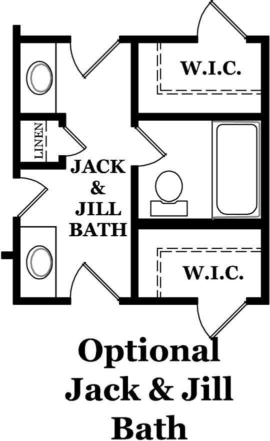 Jack and Jill bathroom | Nolen Park Heritage Hancock Optional Second Floor Jack and Jill Bath