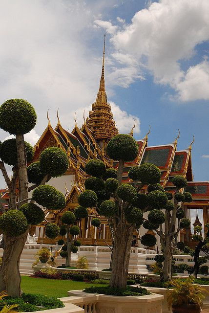 King's Palace in Bangkok , Thailand. This is beautiful and so is the temple of the Emerald Buddha, which is next to it.