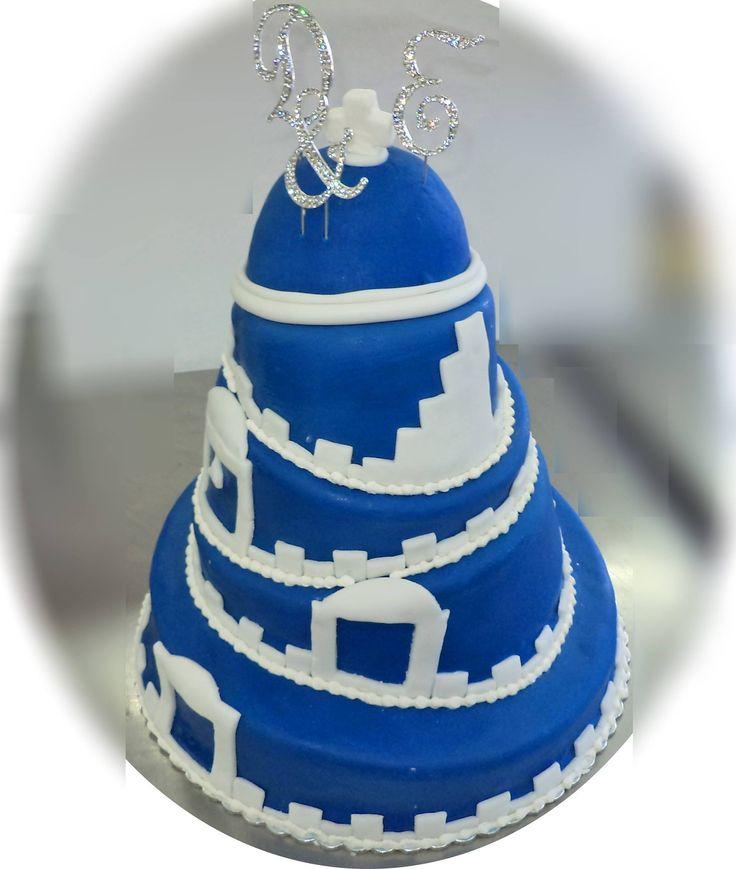 Santorini chapel cake