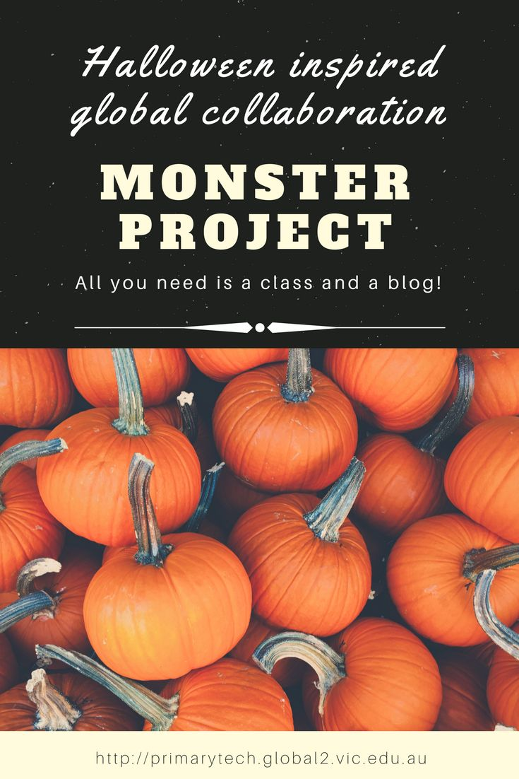 Monster Project: Global Collaboration Project | For Halloween or any time. All you need is a class and a blog! Kathleen Morris