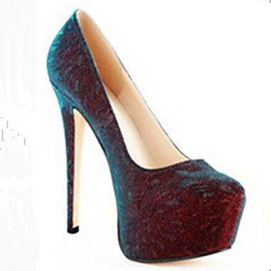 bombas de couro envernizado plataforma sapatos stiletto calcanhar das mulheres de escritório / sapatos de festa – BRL R$ 170,97