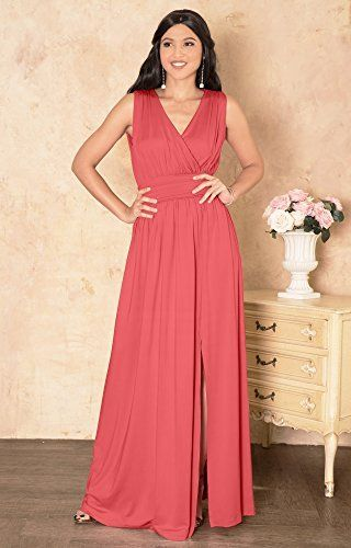 edf20e8abea KOH KOH Womens Long Sleeveless Bridesmaid Cocktail Evening Maxi Dress   dresses  eveningdresses  maxidress  cocktaildresses