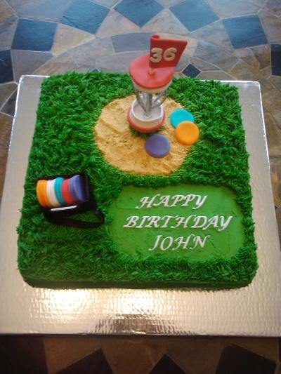 disc golf By JReynolds on CakeCentral.com