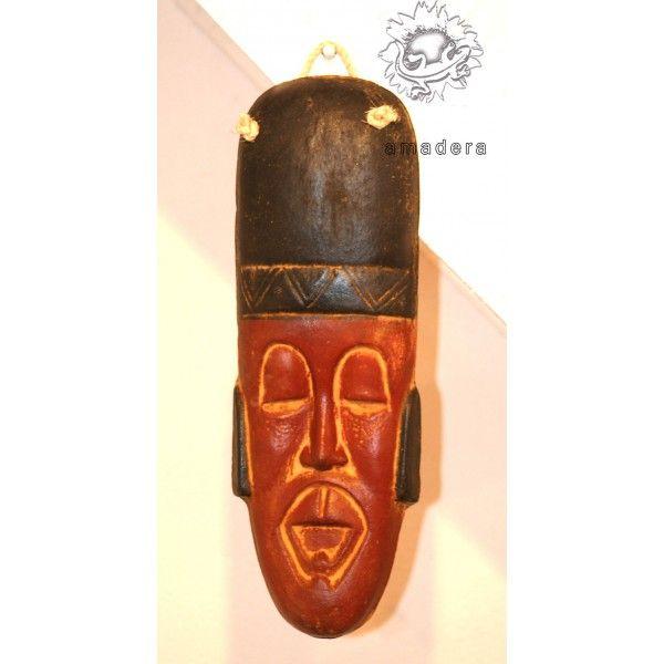 Grand masque mexicain en terre cuite decoration murale