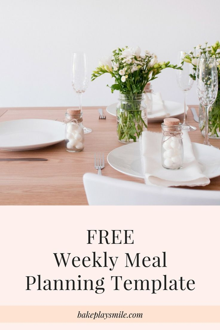 FREE Weekly Meal Planning Template    Make meal planning a breeze with our FREE Weekly Meal Planning Template… plus a sample template to get you started with a bit of foodie inspiration!    #meal #planning #planner #free #printable #template    http://bakeplaysmile.com/free-weekly-meal-planning-template/
