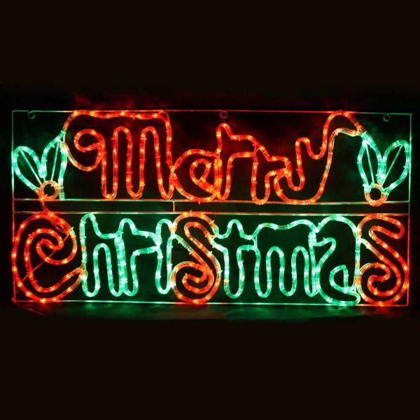Christmas Solar LED Merry Christmas Sign Ropelight | Silhouette Rope Lights | Great Gifts at Deals Direct