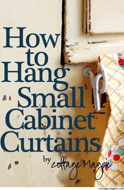 This is perfect for my meditation space! How to Hang Small Cabinet Curtains for Cheap via Cottage Magpie