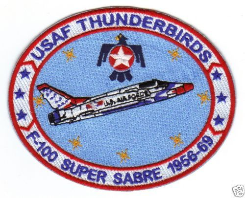 USAF Thunderbird Patch F 100 Super Sabre 1956 1969 Y   eBay