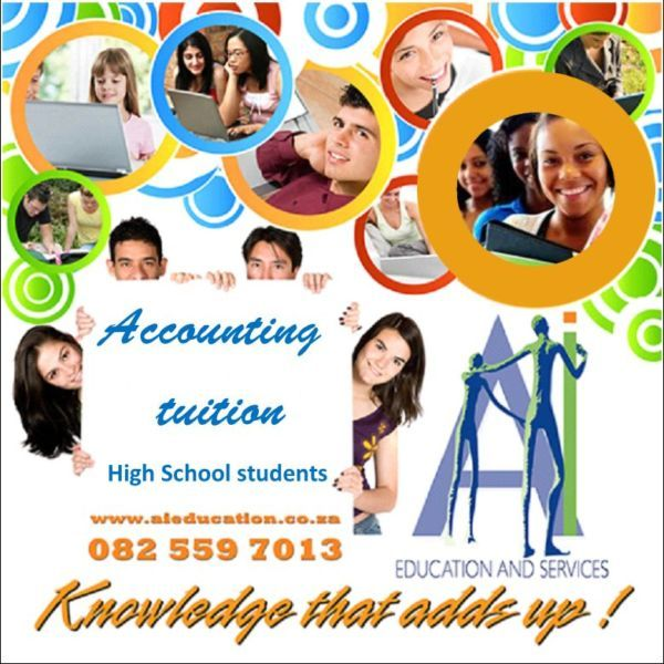 We have more than 18 years of experience in Accounting Education.* Group classes or individual tuition if necessary* Reasonable rates* Informal and relaxed atmosphere* Structured guidance for the learner* Test and exam preparation and homework assistanceWe are based in Weltevreden Road, NorthcliffTry us now and whatsapp or phone Annelize 082 559 7013www.aieducation.co.za